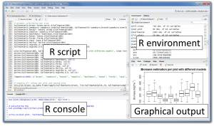 rstudio script,console,environment,graphical output